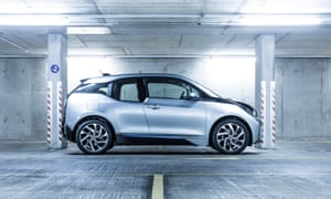 Electric cars, such as the BMW I3 pictured here, could one day be used as part of a smart energy storage network across the UK.